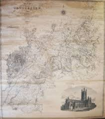 map of the county of gloucester made from an actual survey in the