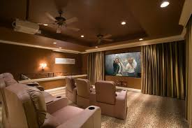 Interior Design For Home Theatre by Home Theater With Marquee Seats Custom Home Theater Solutions