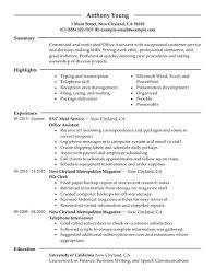 Sample Resume Of Office Administrator by Download Office Resume Haadyaooverbayresort Com