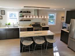Remodeled Kitchens With White Cabinets by Kitchen With Black Cabinets White Subway Tile Backsplash Open