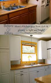 painting kitchen cabinets taking my mom u0027s dark kitchen into light