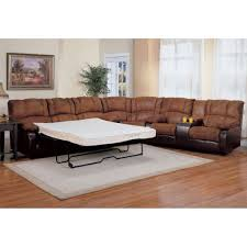 Small L Shaped Sofa Bed by Brown Leather Sectional Sleeper Sofa Tehranmix Decoration
