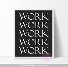 cute office decor work quote printable office wall art