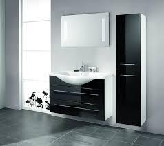 black bathroom cabinet ideas with contemporary high gloss benevola