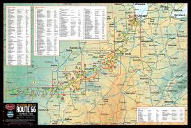 Route 66 Arizona Map by Historic Route 66 U2013 Butler Motorcycle Maps