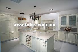 interior design classic chandelier with granite countertop and
