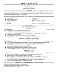 Nanny Resume Sample Templates by Nanny Resume Template Resumes For Mba