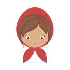 draw red riding hood basic shapes adobe