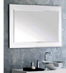 impressive design ideas using rectangular white mirrors and silver