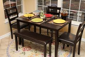 dining table set with bench piece 60x32 dining table set w bench