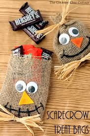 halloween crafts 2015 scarecrow halloween treat bags the country chic cottage