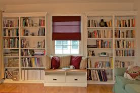 built in bookshelves with window seat for under 350 ikea