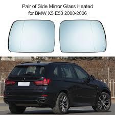 Bmw X5 E53 - aliexpress com buy pair of side mirror glass heated 51167039598