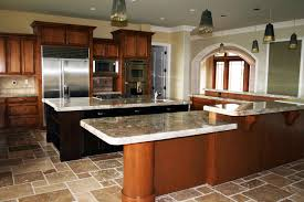 affordable modern furniture kitchen curved island with white quartz countertop and granite