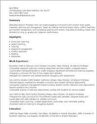 Physical Therapy Resume Sample by Professional Adjunct Professor Templates To Showcase Your Talent