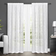 amazon com exclusive home curtains salzberg embroidered sheer rod