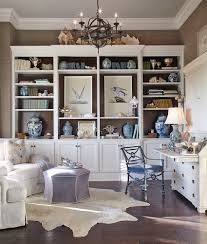 Open Home Office Office Chic Beach Style Home Office With White Open Cabinet Also