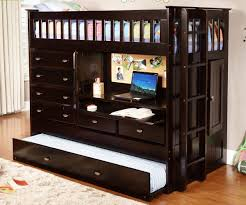 Bedroom Furniture Espresso Finish Espresso All In One Loft Bed Dream Rooms Furniture