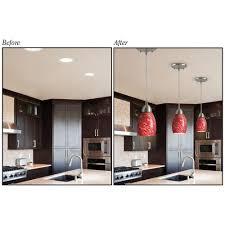 kitchen pendant lighting lowes new convert recessed light to pendant 60 in convert recessed light