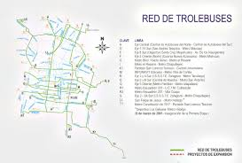 Mexico Cities Map by Mexico City Electric Trolleybus Maps