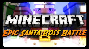minecraft mini game evil santa boss battle merry christmas