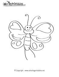 cartoon butterfly coloring page a free nature coloring printable