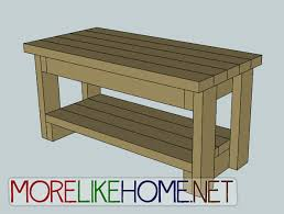 Plans To Build A Storage Bench by More Like Home Day 9 Build A Bench With 2x4s