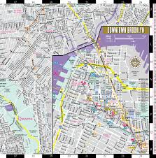 Brooklyn New York Map by Streetwise Brooklyn Map Laminated City Center Street Map Of