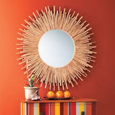 maison du monde coussin de sol espejo de madera caña bambú mimbre circular sol my home