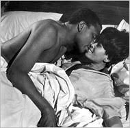 Abbey Lincoln With Sdiney Poitier in a scenr From For Love Of Ivy