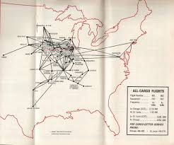 Carrier Route Maps by Ozark Airlines World Airline News