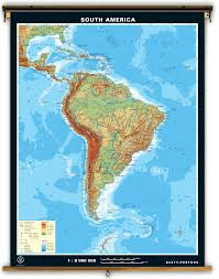 Latin America Map Labeled by Klett Perthes South America Dual Sided Political And Physical
