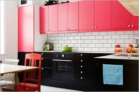 kitchen black and pink small open kitchen design color with white