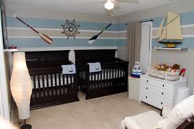 baby boy nursery nautical theme oars twins stripes twin boys