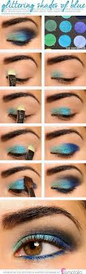 ideas about Peacock Eye Makeup on Pinterest   Peacock makeup     Sparkling Peacock Eye Makeup Tutorial   Gorgeous  amp  Easy Eye Makeup Tutorials For Brown Eyes