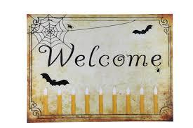 halloween wall art welcome