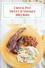 crock pot sweet smoky barbecue ribs flour on my face