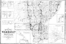 Ny County Map 1858 Warren County Map Records Center Warren County Ny
