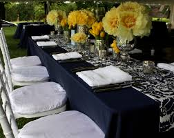 Black Blue And Silver Table Settings Petalena Petalena Creative Designs For Weddings And Special