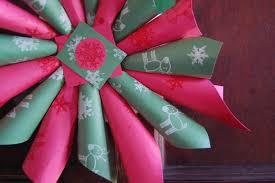 christmas wreath craft idea for kids