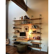Loft Shelving by Hand Crafted Custom Industrial Shelving Unit W Galvanized Pipe By