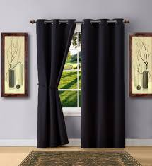 Blackout Curtain Panels Warm Home Designs Black Blackout Curtains Valance Scarves Tie