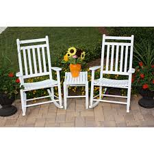 Rocking Chairs At Walmart Dixie Seating Company 3 Pc Rocking Chair Set With Sidetable