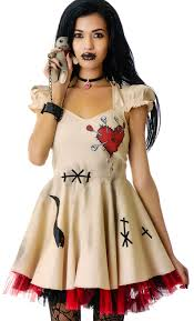 Halloween Doll Makeup Ideas by Voodoo Doll Costume Lip Service Voodoo Doll Costume Dolls Kill