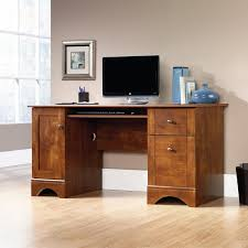 darby home co isadore computer desk with 2 storage drawers