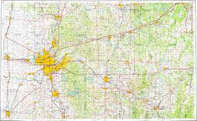 Oklahoma City Map Download Topographic Map In Area Of Oklahoma City Edmond Norman
