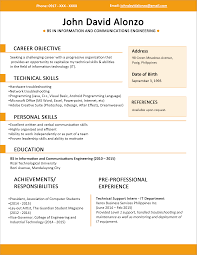Example Job Resume by Resume Templates You Can Download Jobstreet Philippines