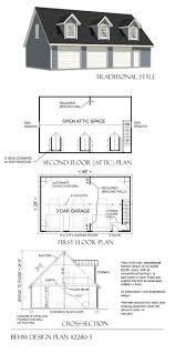 3 car loft garage plan 2280 3 46 u0027 x 28 u0027 by behm designbehm