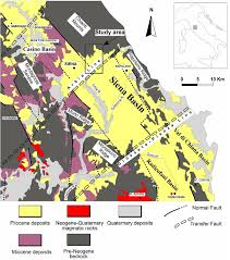 Tuscany Map Geological Map Of The Pliocene Succession Of The Northern Siena