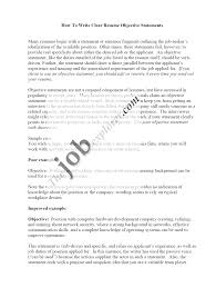 Examples Of Objective For Resume  example of objectives for resume